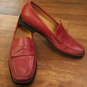 Cole Haan red loafers - 9 AA